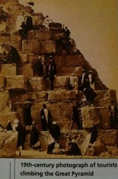 Subir nas pirâmides do Egito