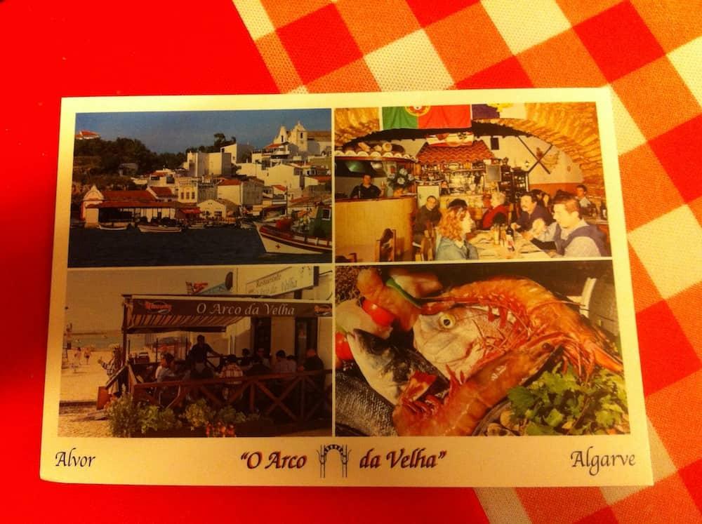 Cartão do restaurante.