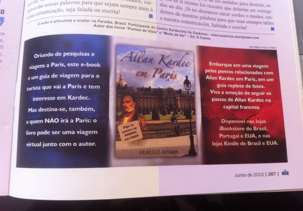 Revista Internacional de Espiritismo destaca livro Allan Kardec em Paris