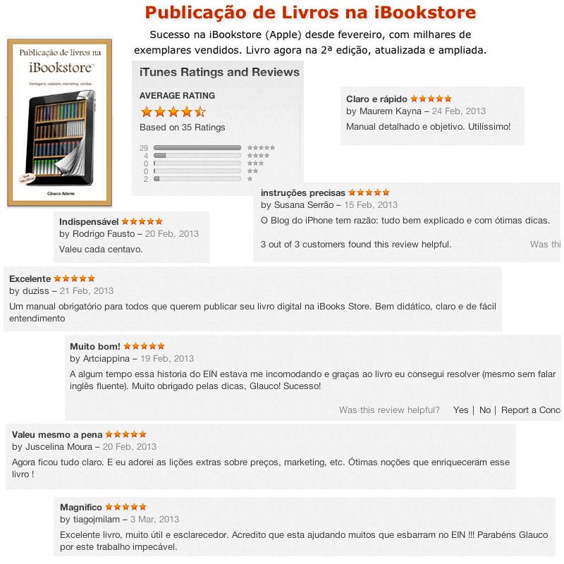 Publicação de Livros na iBookstore: críticas de leitores