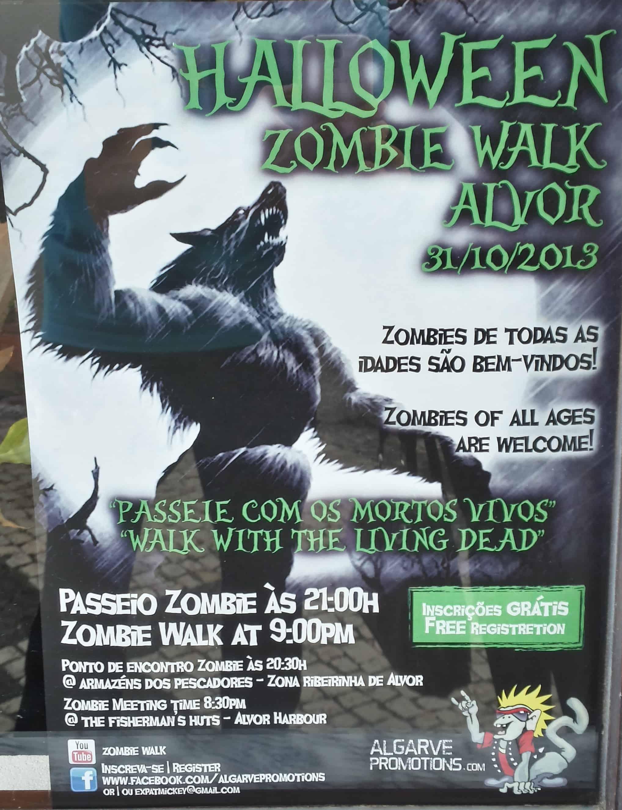 Halloween, Zombie Walk em Alvor, Algarve, Portugal