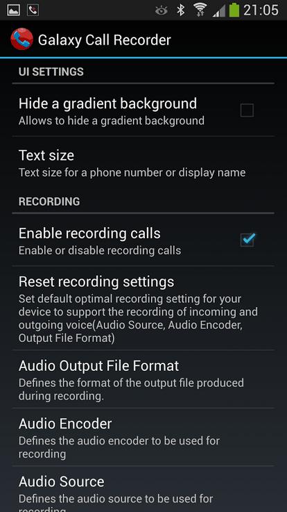 O aplicativo é muito rico em configurações.
