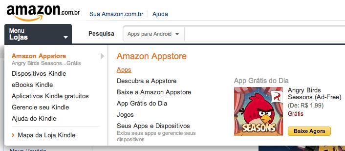 Loja de aplicativos para Android na Amazon