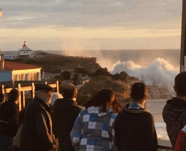 Mar agitado em Portugal