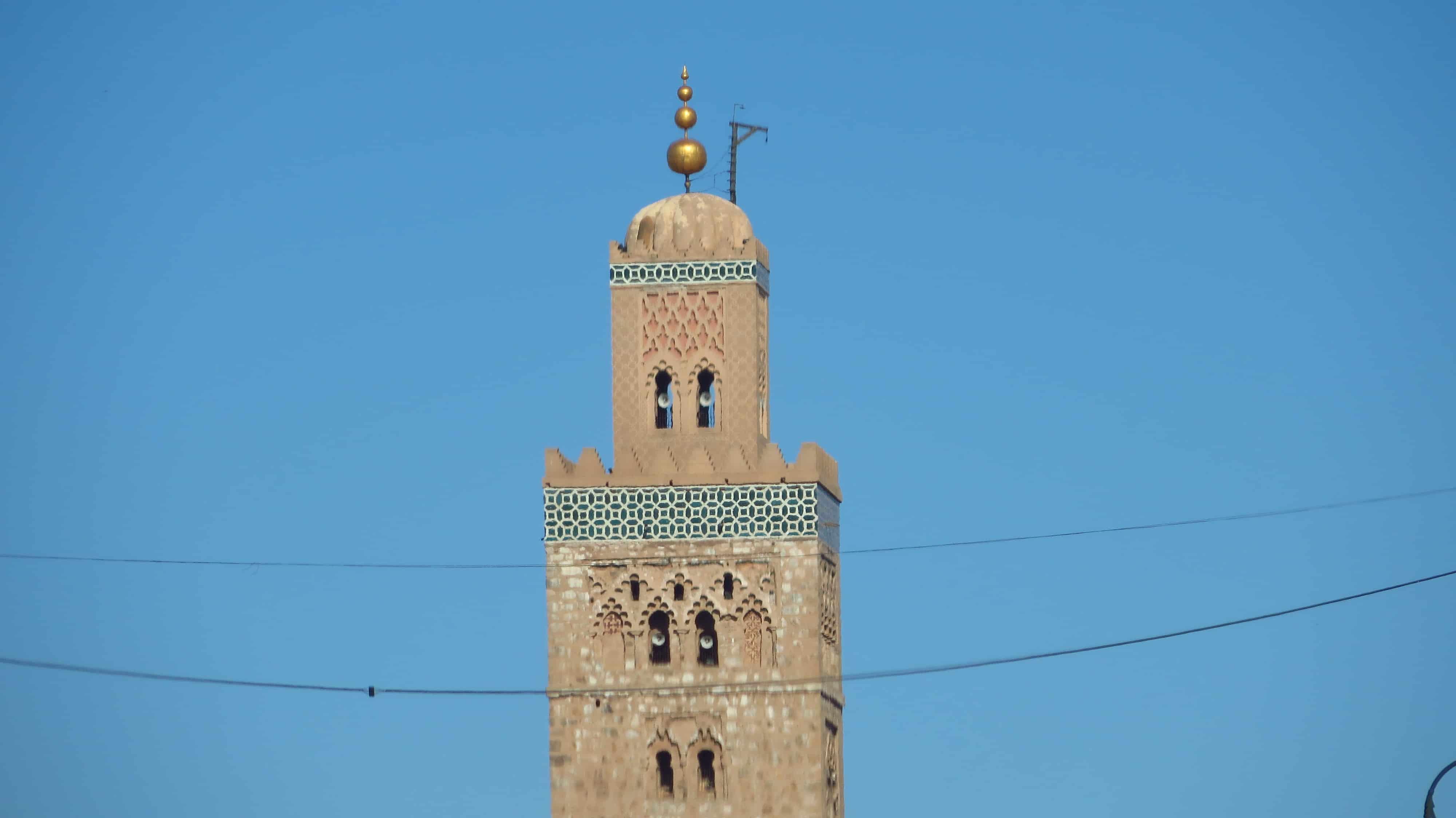 Mesquitas em Marrocos e a direção de Meca