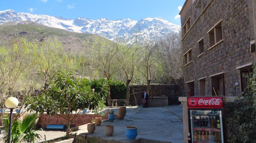 Restaurante em Imlil, Montanhas Atlas, Marrocos
