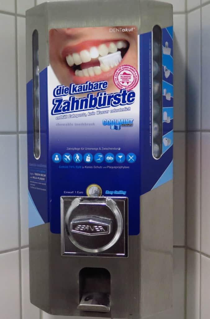 Escova de dentes especial para viajantes