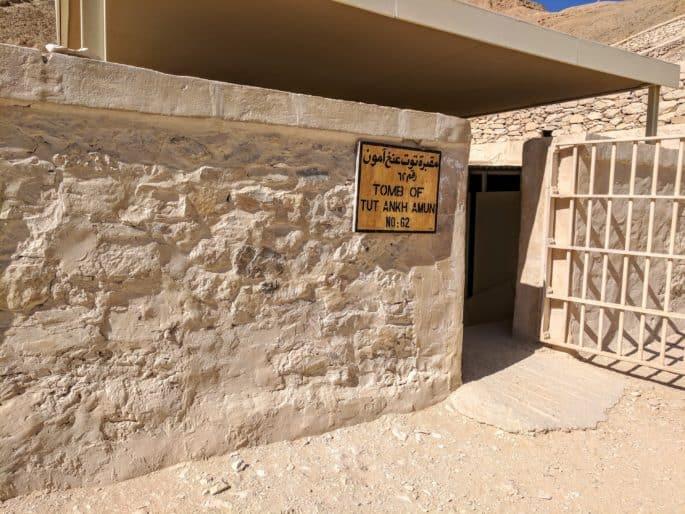 Entrada da tumba de Tutancamon.