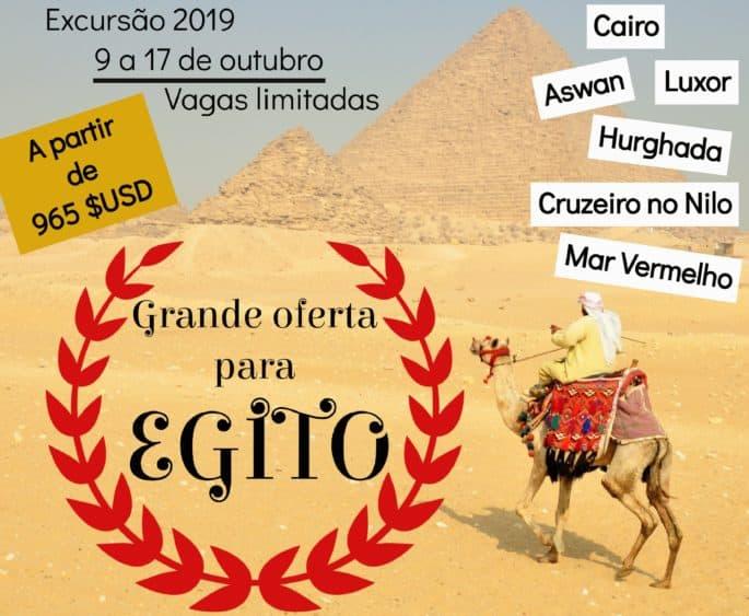 Excursão Egito Outubro de 2019
