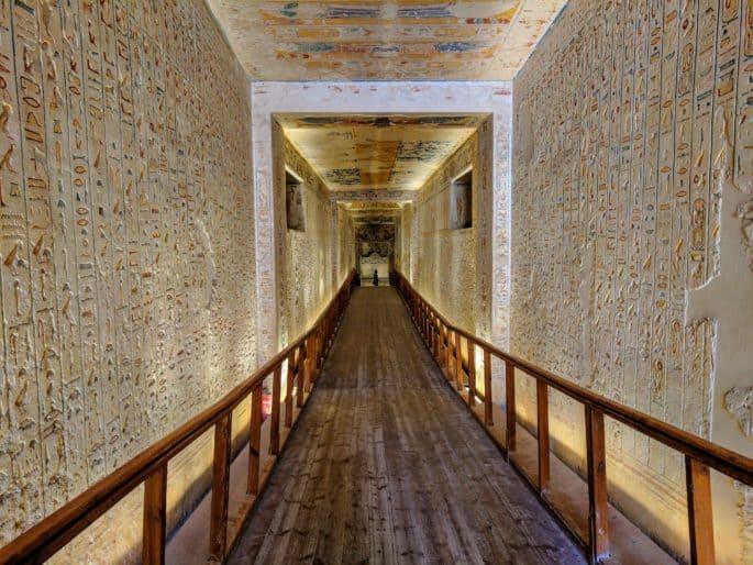 Parte da tumba de Ramsés VI.