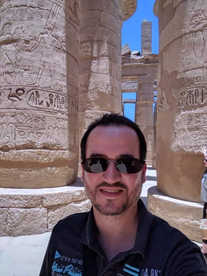 Glauco Damas no Egito.