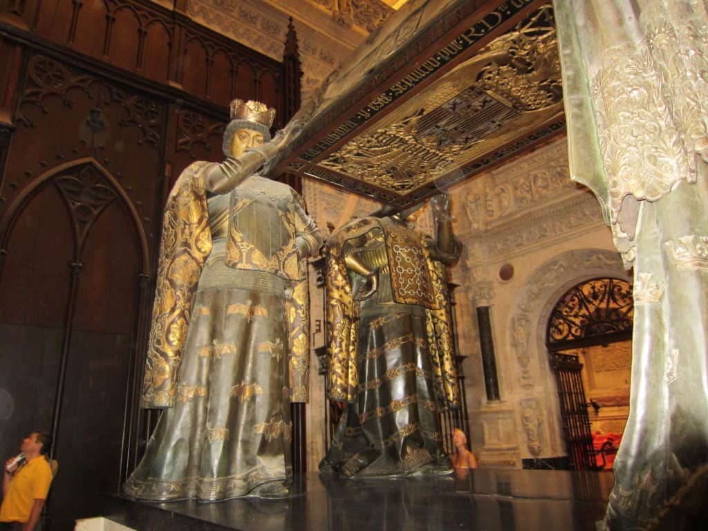 Visão do túmulo de Cristóvão Colombo.