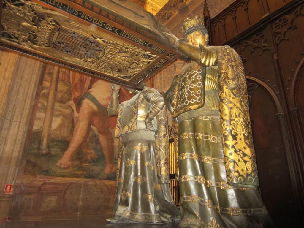O túmulo de Cristóvão Colombo.