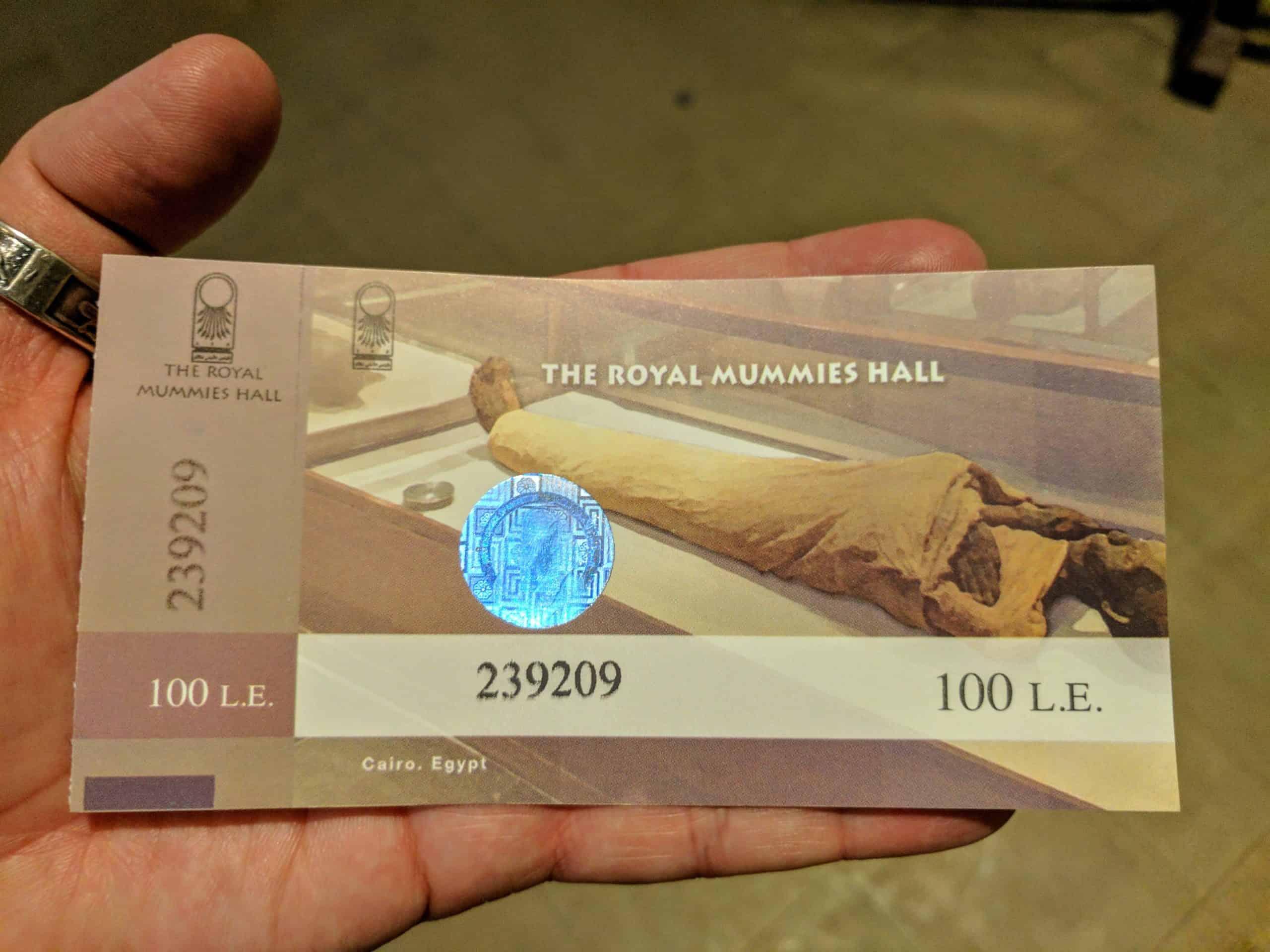 A Sala das Múmias Reais não está incluída entre ingressos dos pacotes para o Egito
