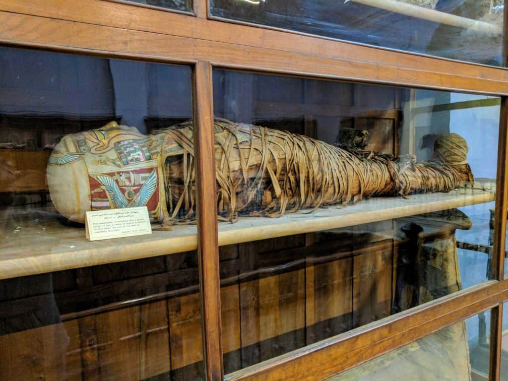 Múmia no museu.