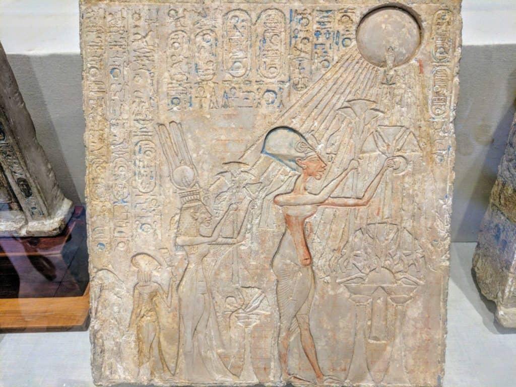 Interior do Museu do Cairo.