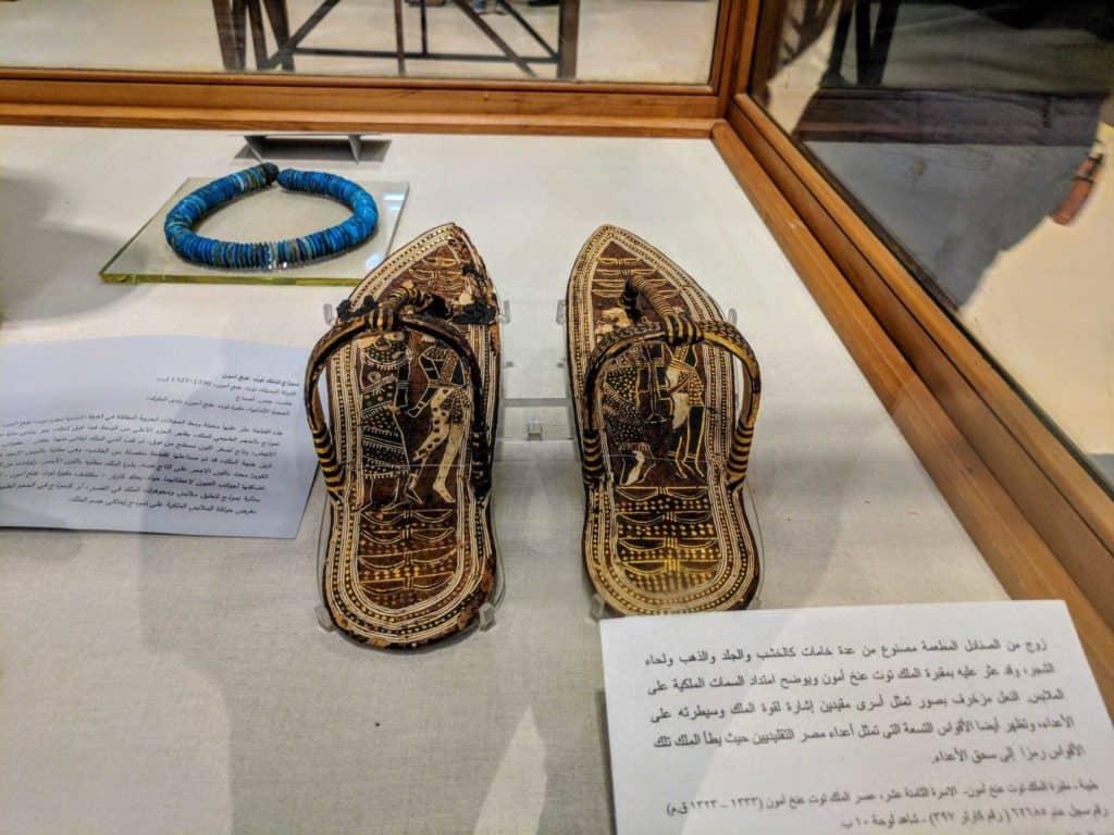 Sandálias de Tutancamon.