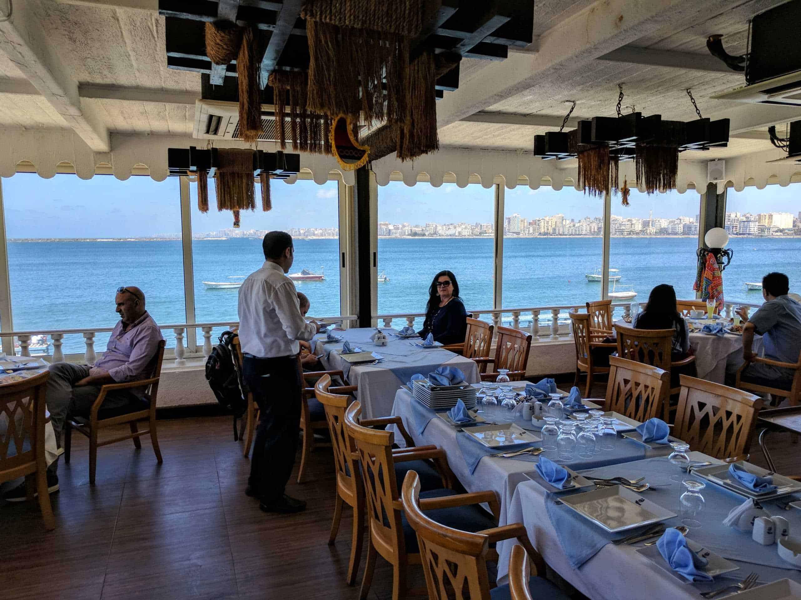Exemplo de gastos no Egito: um restaurante.