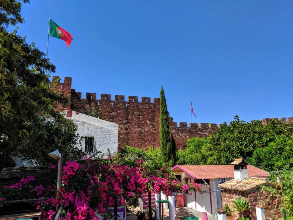 O Castelo de Silves visto a partir do Restaurante Café Inglês.