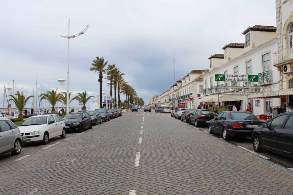 Rua histórica em Vila Real de Santo António