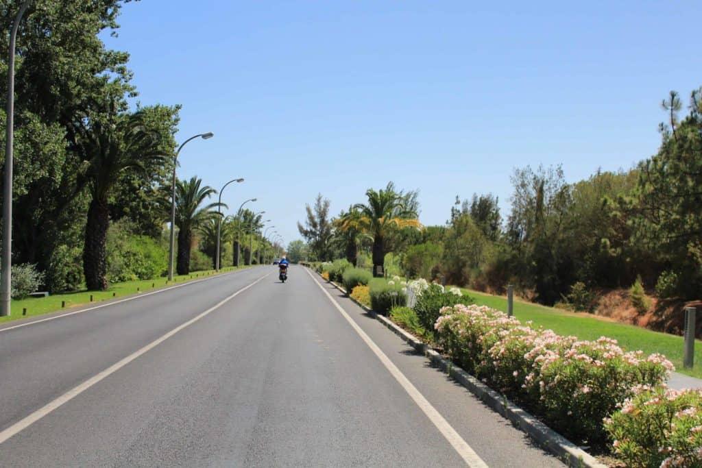 Rua florida em Vilamoura