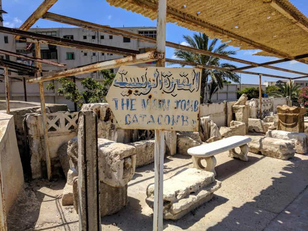 O roteiro para Alexandria inclui as catacumbas de Kom El-Shuqafa.