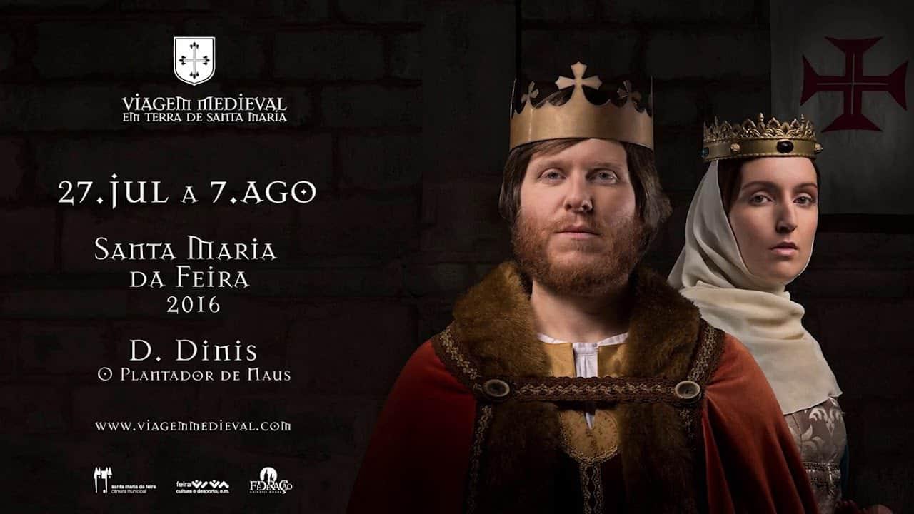 Cartaz anunciando uma Feira Medieval em Portugal.