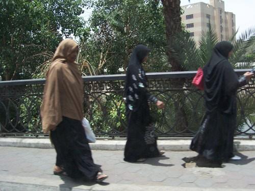 Mulheres no Cairo.