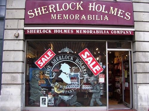 Sherlock Holmes Memorabilia na Baker Street