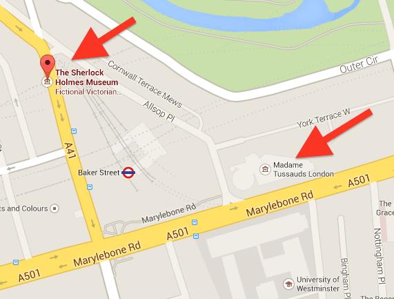 Museu Sherlock Holmes e Madame Tussaud's