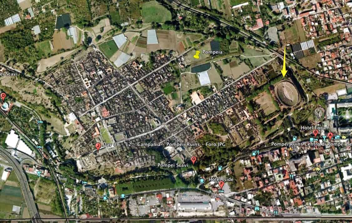 Pompéia pelo Google Maps