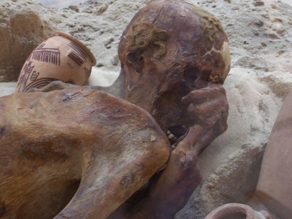 Múmia Ginger,ou Homem de Gebelein, no Museu Britânico