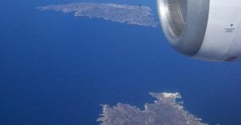 Do Egito para a Grécia: viagem de avião