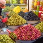 Azeitonas em Marrocos