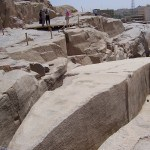 O Obelisco Inacabado de Aswan, no Egito