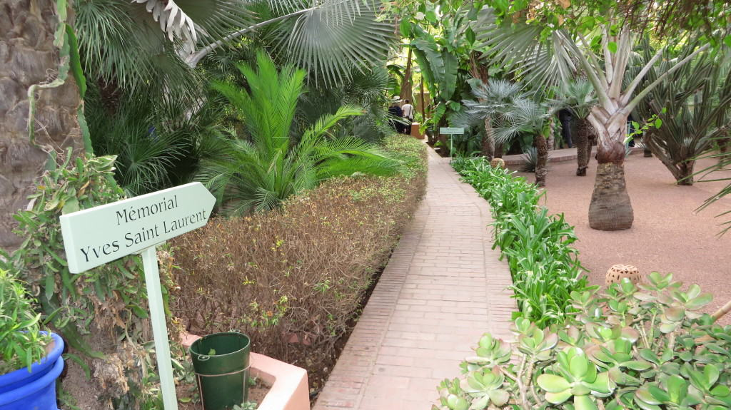 Jardim Majorelle, em Marrakech: Memorial Yves Saint Laurent.