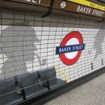 Estação Baker Street, em Londres: Sherlock Holmes