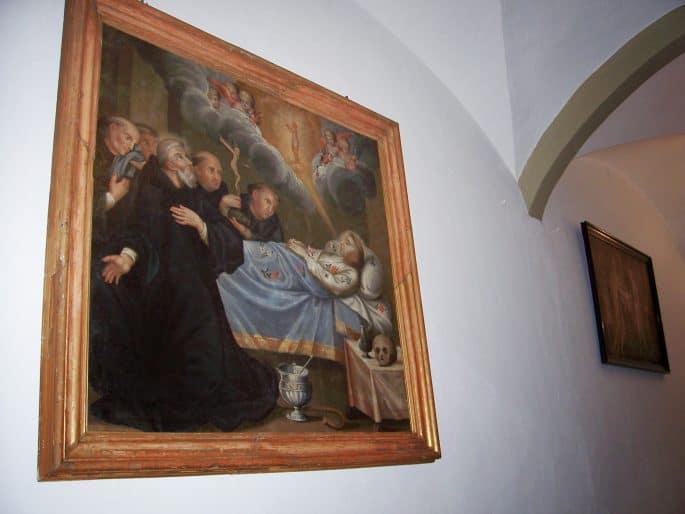 Quadro na Sala dos Capítulos da Capela dos Ossos