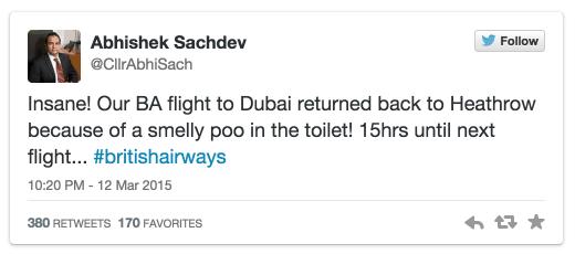 """Aeronave retorna por causa de... """"cocô infernal"""" no toalete"""