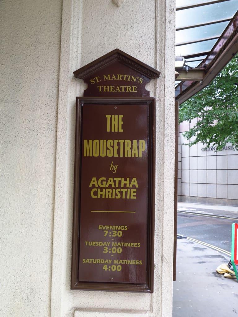 Peça A RATOEIRA, de Agatha Christie, no St. Martin's Theatre (Londres)