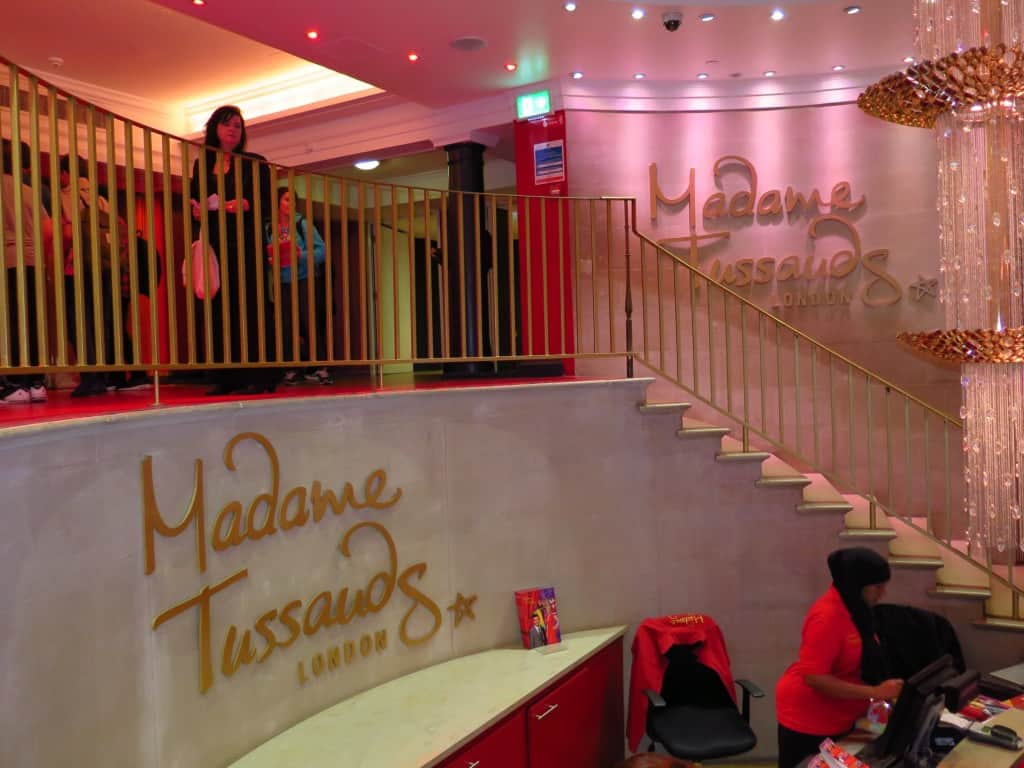 Início da visita no Madame Tussauds de Londres