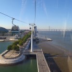 Tradicional passeio de teleférico (telecabine) em Lisboa