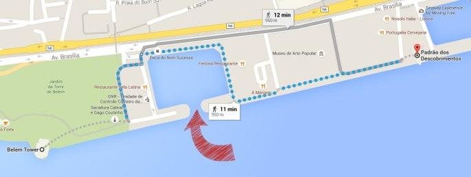 Caminhada da Torre de Belém até o Padrão dos Descobrimentos
