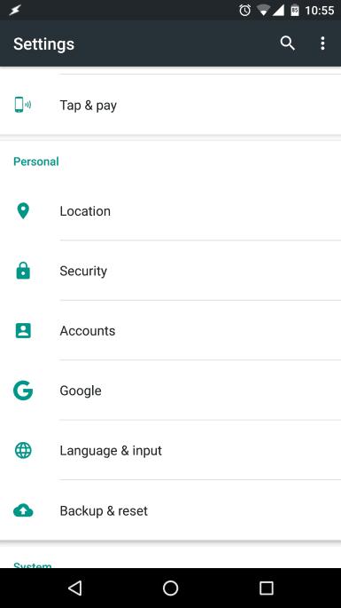 Cancele a sincronização de alguns serviços em sua conta Google