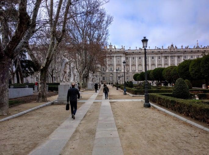 Plaza de Oriente, em Madri