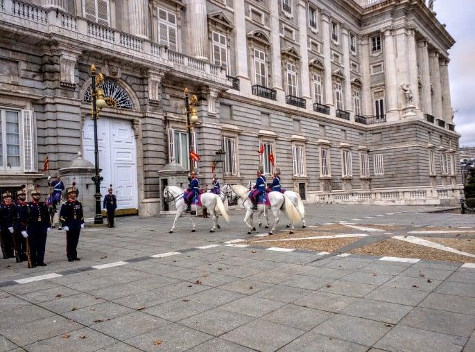 Palácio Real de Madri | Cerimônia de troca da guarda