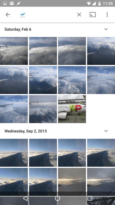 Símbolos emoji no Google Fotos
