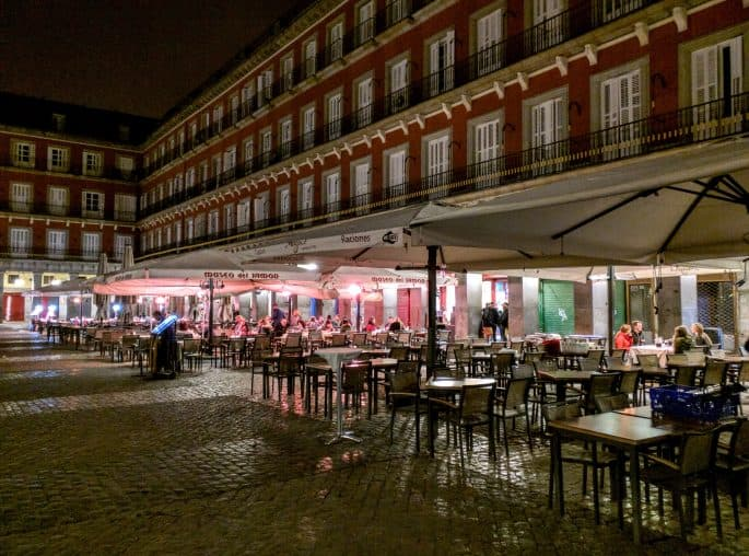 Plaza Mayor à noite