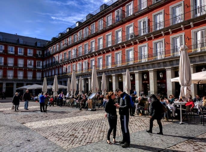Plaza Mayor durante o dia