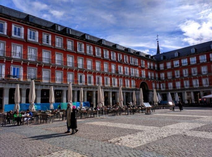 Outra vista geral da Plaza Mayor